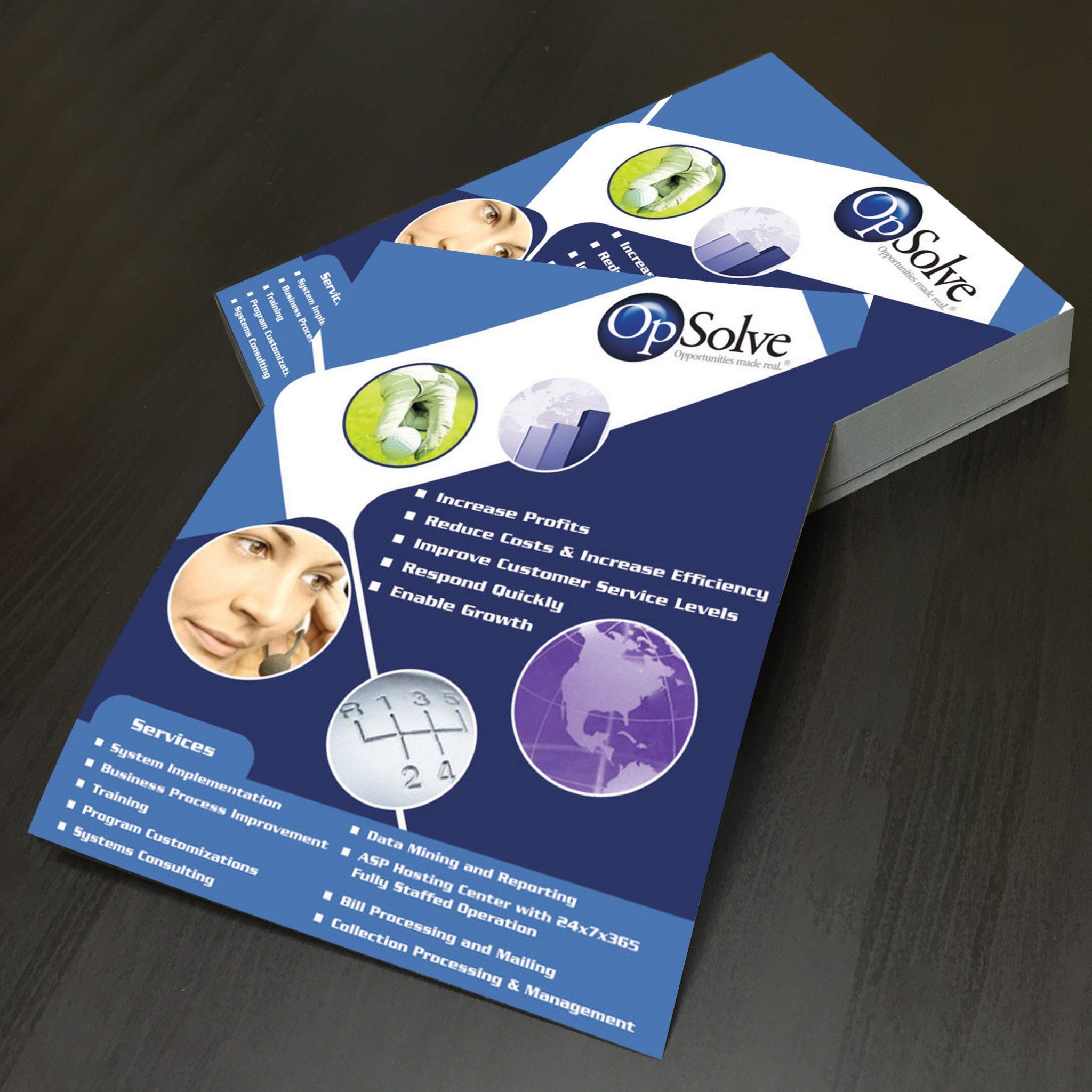 business flyer printing LA