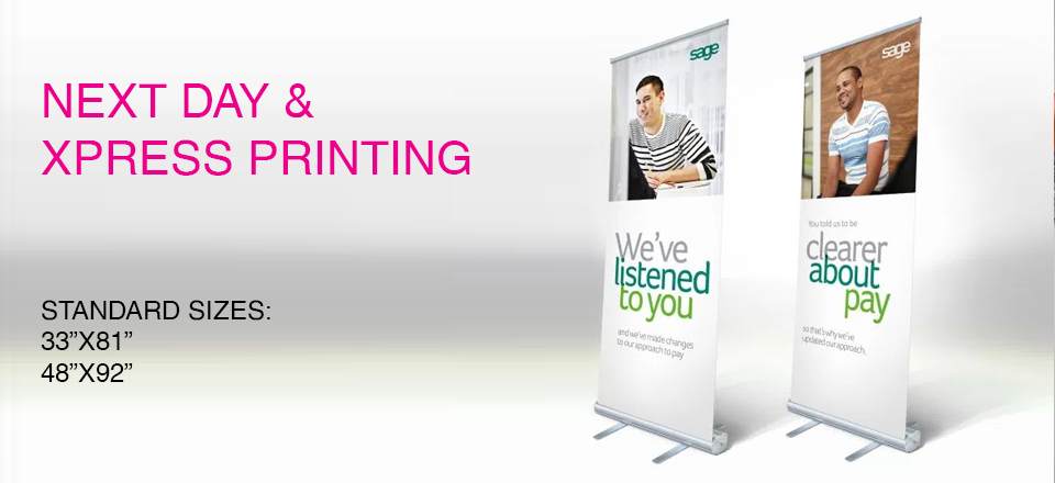 retractable banner with stand